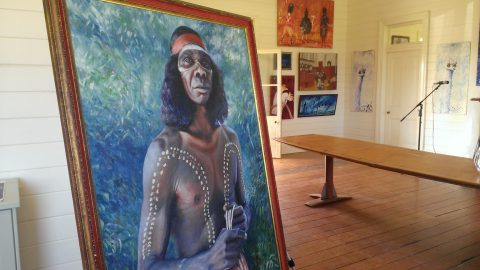 Original painting of David Gulpilil by Gordon Syron