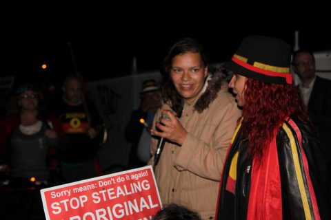 'Stop stealing Aboriginal children' - protesters at Sorry Day (c) Elaine Pelot Syron