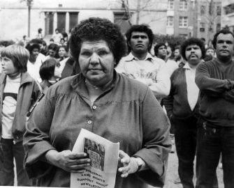 Land Rights Protest, Sydney Town Hall 1984 (c) Elaine Pelot-Syron