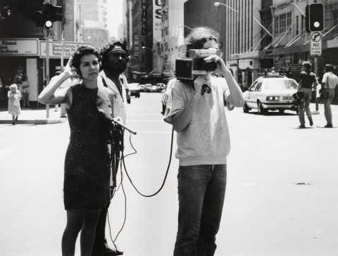 TRACEY MOFFATT FILMING EARLY LAND RIGHTS MARCH c. 1980 Elaine Pelot-Syron